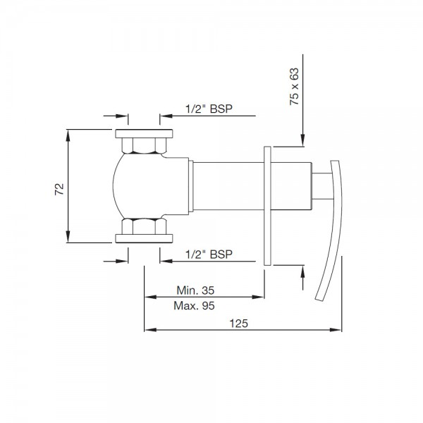 In-wall Stop Valve 15mm