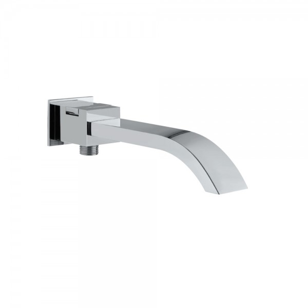 Signac Bath Spout with Diverter & Wall Flange