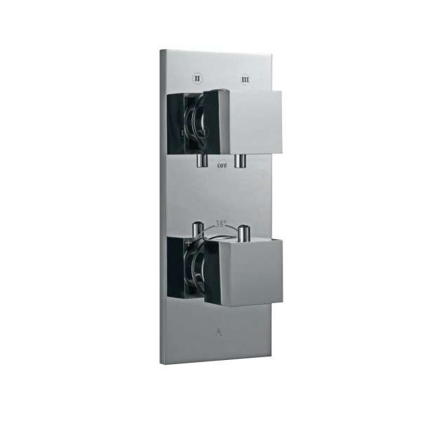 Thermatik-S in-wall thermostatic shower valve with 4-way diverter